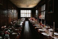 Long Gallery - long dining tables   Photo by Philippa James Photography