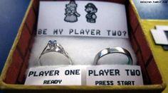 Mario-themed marriage proposal is geeky sweet | Ubergizmo