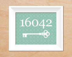 Key Home Print  Housewarming Gift  Custom by laurenmaryPRINTS