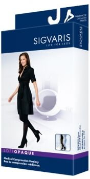 b5ff4b50cbc Sigvaris 842P Soft Opaque 20-30 mmHg Closed Toe Pantyhose Compression  Pantyhose