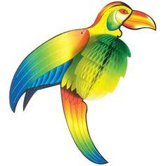 2 suspensions toucans colorés
