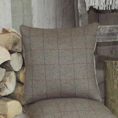 irish tweed wool and linen cushion by rustic country crafts | notonthehighstreet.com