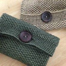 Bag Ideas Crochet Eco Clutch Class Place: Mon / Wed / Fri lesson near Deokpung-dong, Hanam-si Package Class Crochet Clutch Bags, Crochet Wallet, Crochet Handbags, Crochet Purses, Crochet Gifts, Crochet Bags, Crochet Shell Stitch, Knit Crochet, Purse Patterns