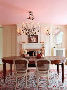 pink ceiling . . . .Pastel Paint Colors — One Kings Lane