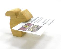 Wood Business Card Holder Squirrel Wooden Card by HappyBungalow