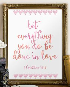 Bible Verse Art Printable Print wall art by TwoBrushesDesigns #PRINTABLEVERSES
