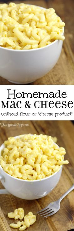 """Mac and Cheese without Flour! - An easy, creamy mac and cheese recipe, made without flour or """"cheese product""""! Just homemade macaroni with milk, butter, and REAL cheese"""
