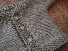 Easy baby cardigan - free knitting pattern