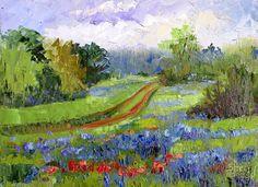 Plein Air Artists International: Blue Meadow, New Contemporary Landscape Painting b...