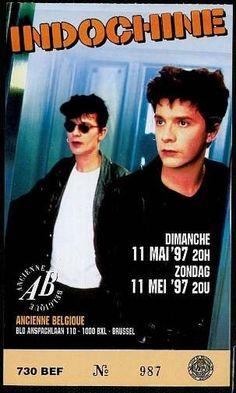 Indochine ticket  Ancienne Belgique (Bxl) 1997
