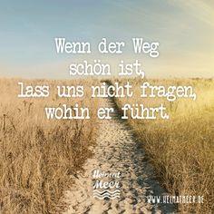 Wenn der Weg schön ist, lass uns nicht fragen, wohin er führt. Sprüche / Zitate / Quotes / Schicksal / leiten lassen