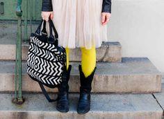 Wear a pair of white tights underneath a coloured pair.