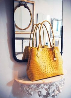 Yellow leather bag, perfect for any outfit