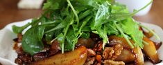 Maggie Beer's Baked Pear Salad with Bacon and Walnuts