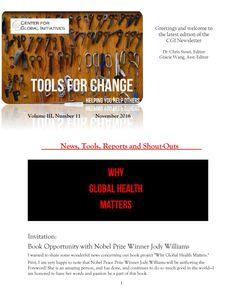 2016 November Tools for Change CGI Newsletter