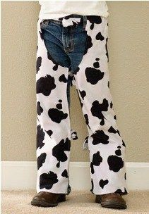 Nikki from Lilybug Designs shows how to make a pair of rodeo chaps for kids' dress-up. She used her daughter's jeans as a pattern, and made them from a faux cowhide so they look like W…
