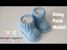 #elifpirenvise iki Şiş Örgü Patik Modeli Anlatımı - YouTube Knitted Baby Boots, Knit Baby Booties, Knitted Baby Clothes, Booties Crochet, Baby Knitting Patterns, Baby Booties Knitting Pattern, Hand Knitting, Crochet Patterns, Boy Diy Crafts