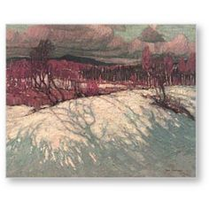 Afternoon Algonquin Park // Tom Thomson (Group of Seven) Winter Landscape, Landscape Art, Landscape Paintings, Landscapes, Tree Paintings, Emily Carr, Canadian Painters, Canadian Artists, Group Of Seven Art