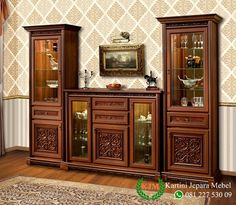 Wooden Sofa Designs, Home Room Design, Dining Room Shelves, Furniture Decor, Classic Dining Room, Curio Cabinet Decor, Hall And Living Room, Crockery Cabinet Design, Master Bedroom Furniture
