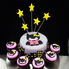 Hello Kitty Batman cake by The Cupcake Lady in Turlock, CA.