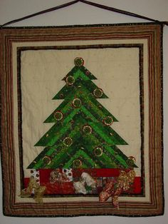 "Would be fun to make!! 34""x40"" Christmas wall hanging by grammasew1 