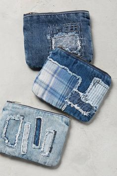 144c4fc009c5 Shop the Petite Patchwork Denim Pouch and more Anthropologie at  Anthropologie today. Read customer reviews