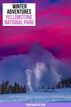 If you want a new winter season adventure be sure to plan a trip to Yellowstone National Park. Enjoy the majesty of the park in the quiet of winter. Less crowds, just as much see. Watch the wildlife and take in all the nature you can. Enjoy the peace and quiet.  #YellowstoneCountry #Yellowstone