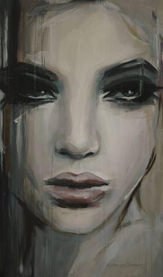 "Artist: Hesther Van Doornum; Acrylic 2013 Painting ""See beneath your beautiful…"