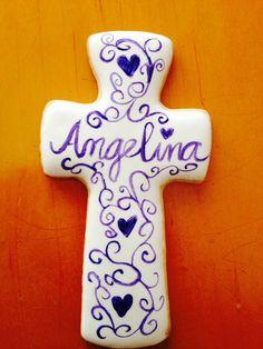 Purple cross sugar cookie