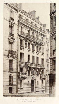 A residential building on Rue du Rocher, Paris