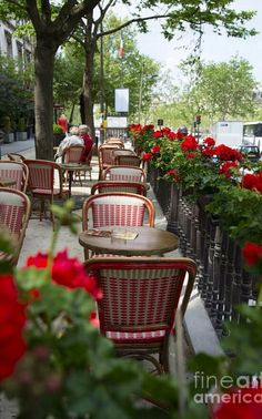 Paris, Tranquil Thoughts   These same chairs are at Bonnie Ruth's Cafe Trottoir et Patisserie in Frisco, Tx  :)
