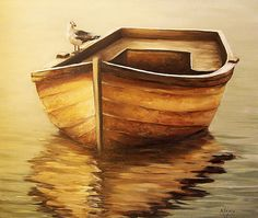 Old Boat Painting  - Old Boat Fine Art Print