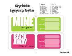 free printable luggage tags pinterest printable luggage tags