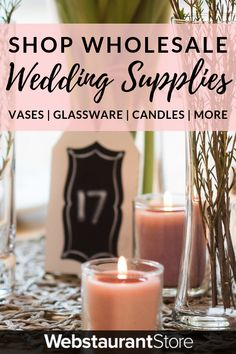 Enhance your magical day with our wholesale wedding supplies! Shop for your reception, ceremony, & more! Shop WebstaurantStore for fast shipping & wholesale pricing! Wedding Tips, Fall Wedding, Diy Wedding, Wedding Events, Rustic Wedding, Dream Wedding, Wedding Stuff, Weddings, Wedding Centerpieces