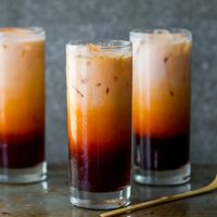 I can drink gallons of this homemade thai iced tea! This easy thai tea recipe is made with thai tea mix and just like what Thai restaurants serve..