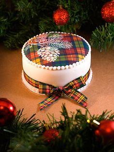 Edible Buchanan tartan cake by Sucre Coeur - Eats & Ink on flickr