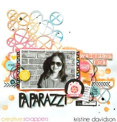 "Creative Scrappers: Paparazzi by Kristine Davidson uses the ""X-File"" cut file from The Cut Shoppe."