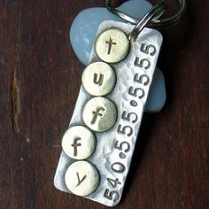Doggone Tags via Etsy | Custom pet ID tag- personalized mixed metal tag for dogs and cats-  the Tuffy.