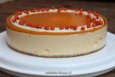 Tarun Taikakakut: Täydellinen tyrnijuustokakku (24cm) Cheesecakes, Oreo, Baking, Sweet, Desserts, Christmas, Food, Candy, Tailgate Desserts