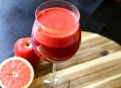 Big Red Juice -- Makes one large glass of juice. * A juicer is needed for this recipe. A blender will not suffice.