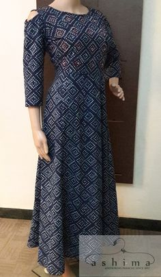 Code:2705171 - Price INR:2990/- , Block Printed Hand Embroidered Kurti.