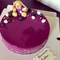 Украшение торта с зеркальной глазурью 84