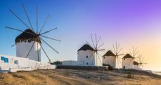 Mykonos, Greece Photo by Stavros Argyropoulos — National Geographic Your Shot #mykonos #greece #sunset #cyclades #landscape #windmills #architecture #panoramic
