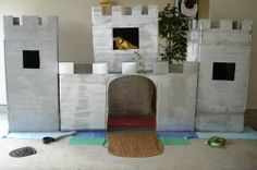 How to make a child size castle out of boxes.