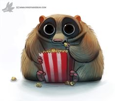 Daily Painting #928. Slow Loris by Cryptid-Creations.deviantart.com on @DeviantArt