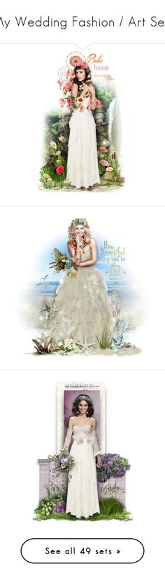 """My Wedding Fashion / Art Sets"" by helenehrenhofer ❤ liked on Polyvore featuring art, Trilogy, Marchesa, Jimmy Choo, Hanae Mori, napa, winerywedding, bestdressedguest, vineyardwedding and Oscar de la Renta"