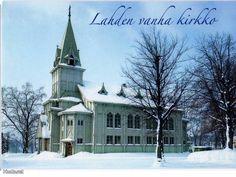 Lahden vanha puukirkko rak. 1890, purettu 1977. Lahti, Päijät-Häme Old Buildings, Cathedrals, Finland, Past, Memories, Mansions, House Styles, Memoirs, Past Tense