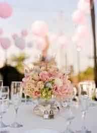 Reception mariage originale rose poudre et argent
