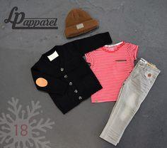 Beanie: SF Series - Brown mix / Vest: Black Urban / Jersey: Matelot series - Red & White / Pants: Skinny - Grey * L&P exclusive *