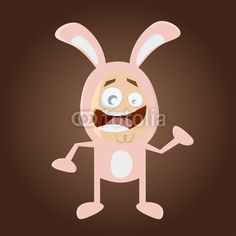 Cartoon Bunny Man